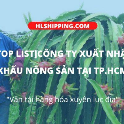 Công ty xuất nhập khẩu nông sản tại hcm