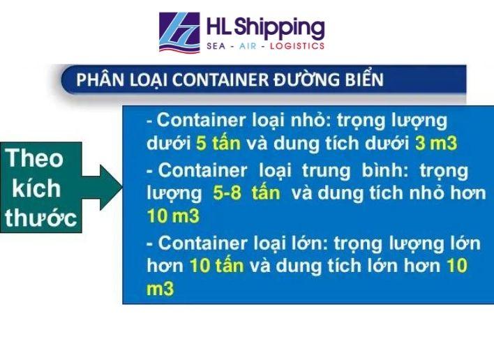 Phân loại kích thước container vận tải biển